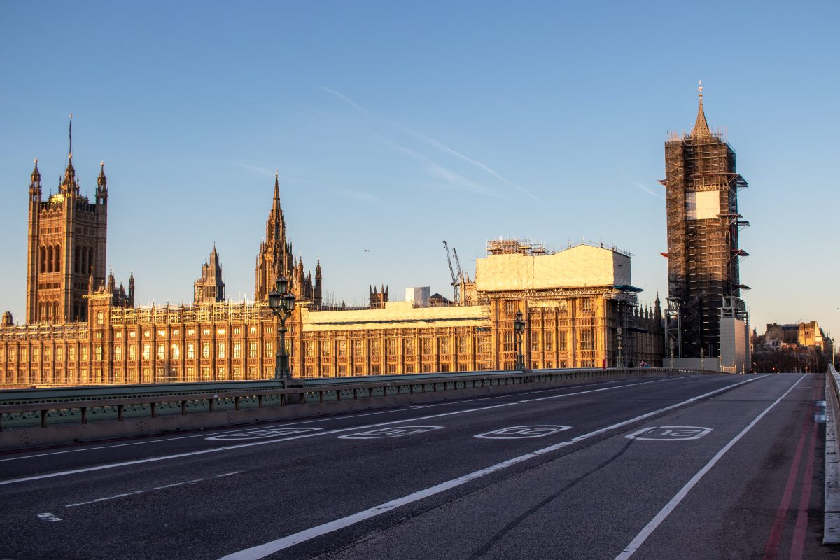 View of the Palace of Westminster from Westminster Bridge